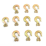 "(10) fits Forged 1/4"" Clevis Slip Hooks with Latches - Grade 70"