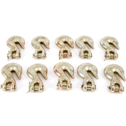 "(10) fits Forged 3/8"" Clevis Grab Hooks - Towing Grade 70"