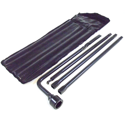 2006 fits Chevy Silverado & GMC Sierra Spare Tire Tool Kit with Case; Tire Iron Lug Wrench, 4 piece Tool Kit to Lower Spare and Change Tire Replacement for OEM
