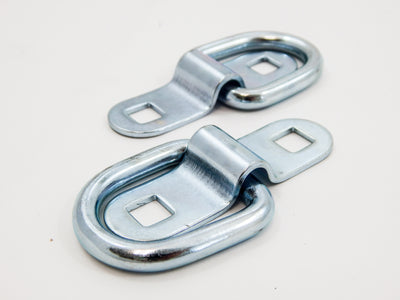 (2) fits 1/4 Rope Ring Tie Down D-Rings Cargo Trailer