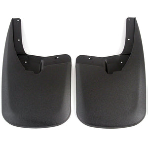 2012 fits Dodge Ram 1500 Molded Splash Custom Fit Mud Flaps - Rear Only 2 Piece Set Pair - Without Flares