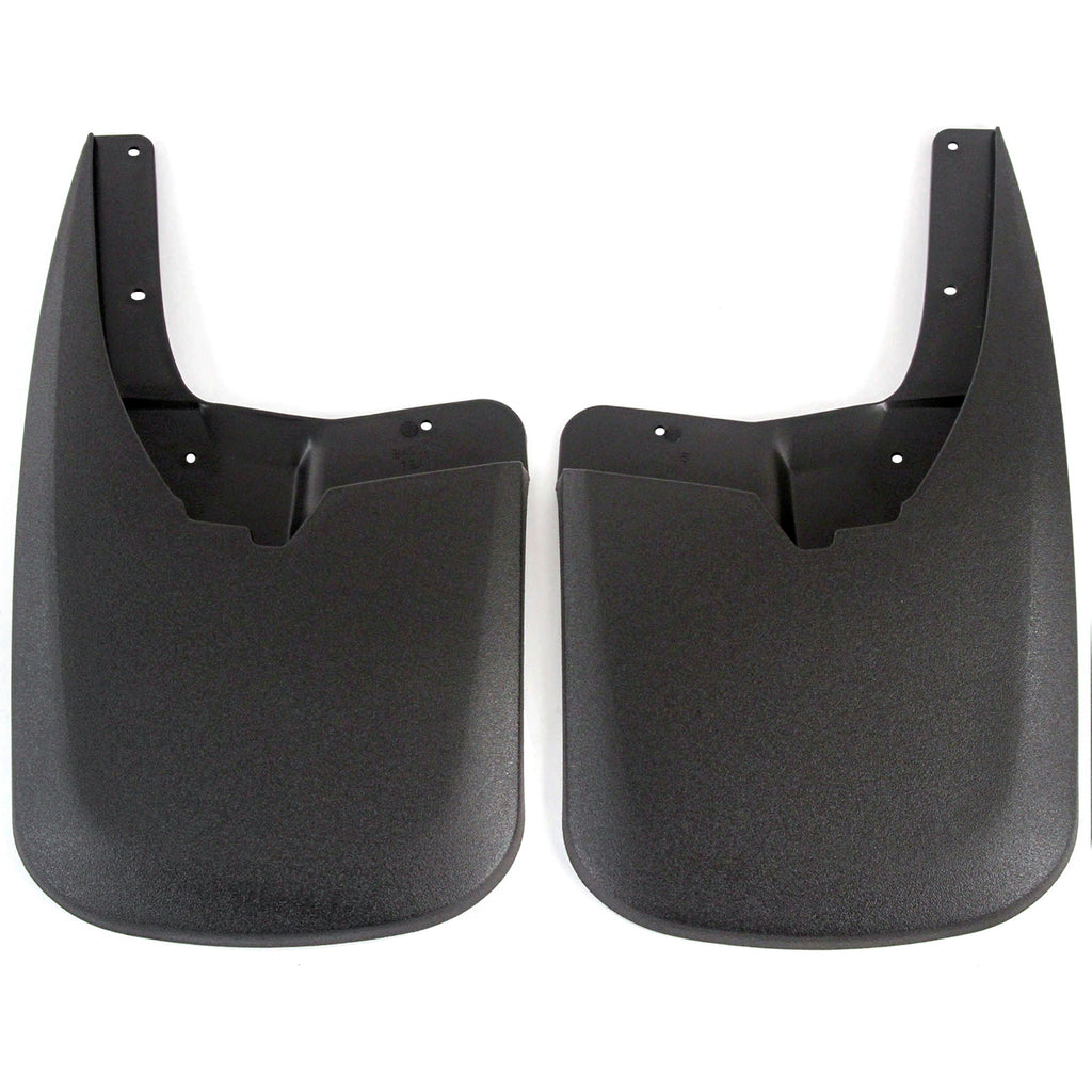 2010 fits Dodge Ram 1500 Molded Splash Custom Fit Mud Flaps - Rear Only 2 Piece Set Pair - Without Flares