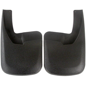 2014 fits Dodge Ram 2500 3500 Molded Splash Custom Fit Mud Flaps - Rear Only 2 piece Set Pair - With Flares