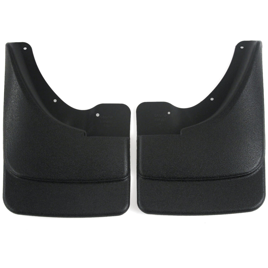 2002 fits Dodge Ram 1500 Mud Flaps Guards Splash Front Molded 2pc Set (Without Fender Flares)
