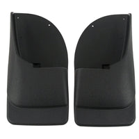2006 fits Ford F250 F350 F450 Mud Flaps Rear Molded 2pc (for Without Fender Flares)