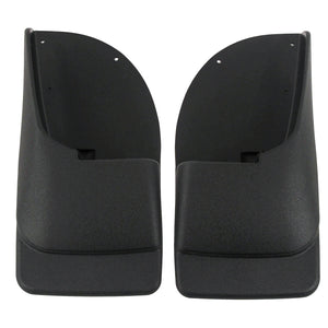 2007 fits Ford F250 F350 F450 Mud Flaps Rear Molded 2pc (for Without Fender Flares)