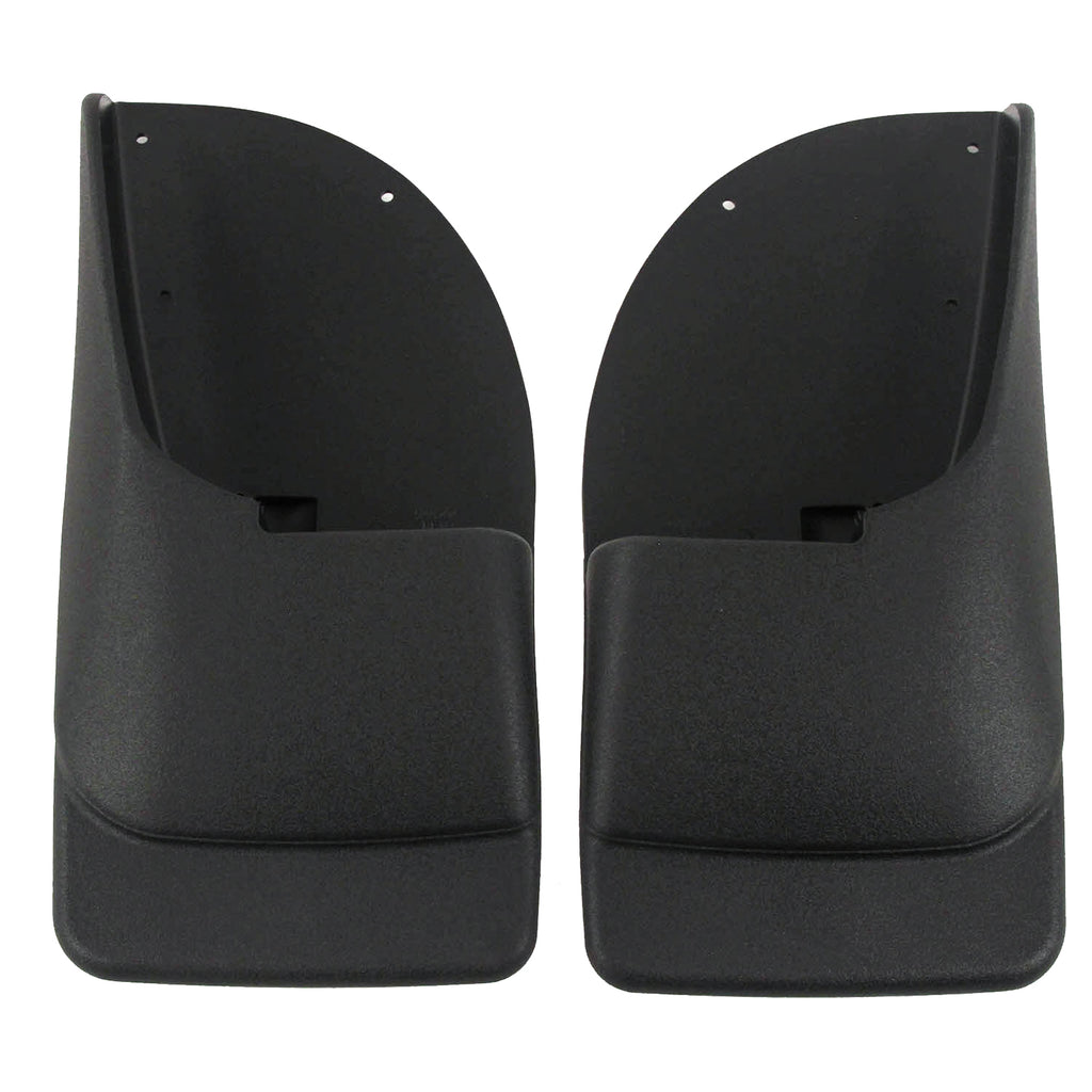 2000 fits Ford F250 F350 F450 Mud Flaps Rear Molded 2pc (for Without Fender Flares)