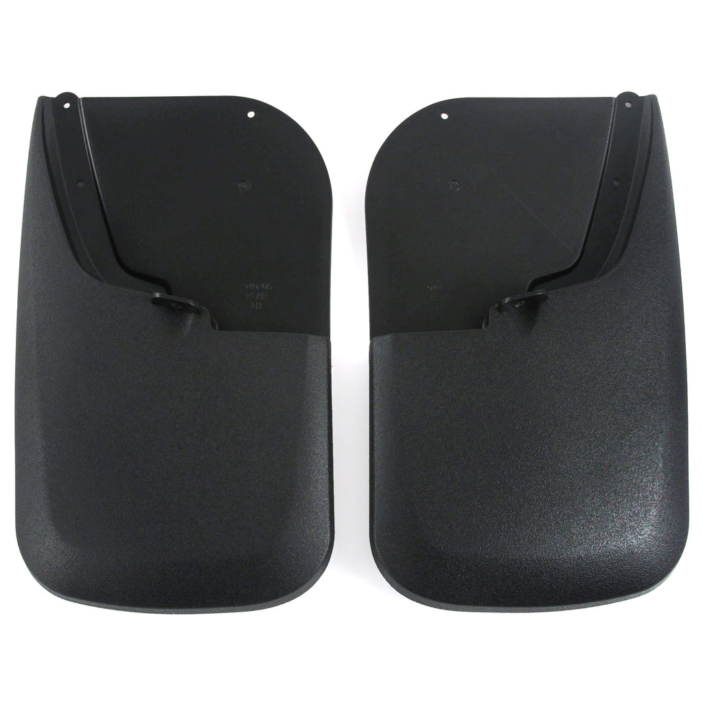 2014 fits Super Duty Mud Flaps Guards Splash Rear Molded 2pc Set (Without Fender Flares)