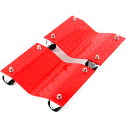 "2 fits - Red 12"" Tire Skates Premium Wheel Car Dolly Ball Bearings Skate Makes Moving A Car Easy"