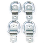 (4) fits 1/4 Rope Rings Tie Down D Rings Cargo Trailer D Ring