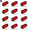 "(12) fits Trailer Truck LED Sealed RED 6"" Oval Stop/Turn/Tail Light Marine Waterproof"