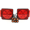 "Led fits Pair Trailer Square Tail Light under 80"" & (6) 3/4"" Amber Side Marker Lights"
