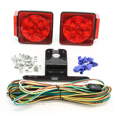 LED fits Submersible DOT Compliant Trailer Light Kit Square Under 80