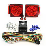 "LED fits Submersible Square Light Kit Trailer 80""- Boat Marine & 2 Red Side Marker"