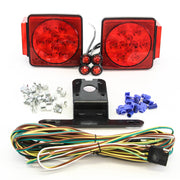 "LED fits Submersible Square Light Kit Trailer 80""- Boat Marine & 4 Red Side Marker"