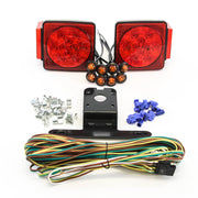 "LED fits Submersible Square Light Kit Trailer 80""- Boat Marine & 8 Amber Side Marker"