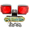 "LED fits Submersible Square Light Kit Trailer 80""- Boat Marine & 4 Clear Side Marker"