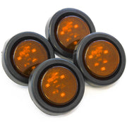 "(4) fits Amber LED 2"" Round Clearance/Side Marker Light Kits with Grommet Truck Trailer RV"
