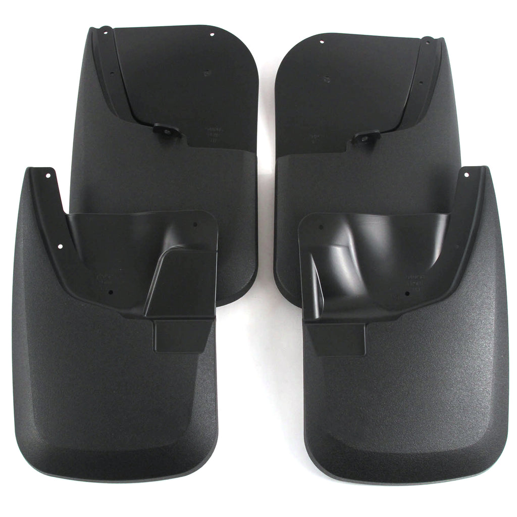 2011 fits Ford Super Duty F250/F350 Mud Flaps Guards Splash Front & Rear 4pc Set (Without Fender Flares)