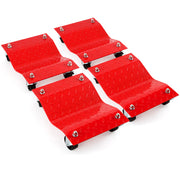 "4 fits - Red 12"" Tire Premium Skates Wheel Car Dolly Ball Bearings Skate Makes Moving A Car Easy Furniture Movers"