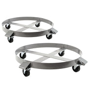 2 fits Heavy Duty Drum Dollies 1000 Pound - 55 Gallon Swivel Casters Wheel Steel Frame Non Tipping Hand Truck Capacity Dolly