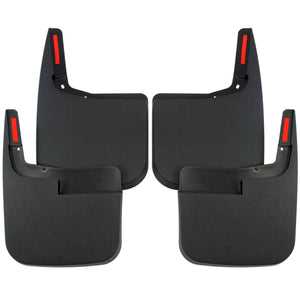 2015 fits Ford F150 Mud Flaps Guards Splash Front Rear 4pc Set (without Fender Flares)