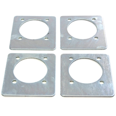 4) fits Backing Plate Mounting Plates for D Ring Plate Tie Down Recessed