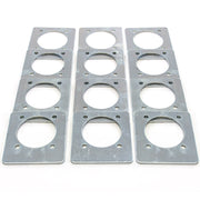 12) fits Backing Plate Mounting Plates for D Ring Plate Tie Down Recessed