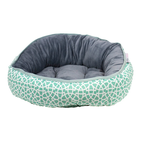 Marrakesh Mint Reversible Dog Bed