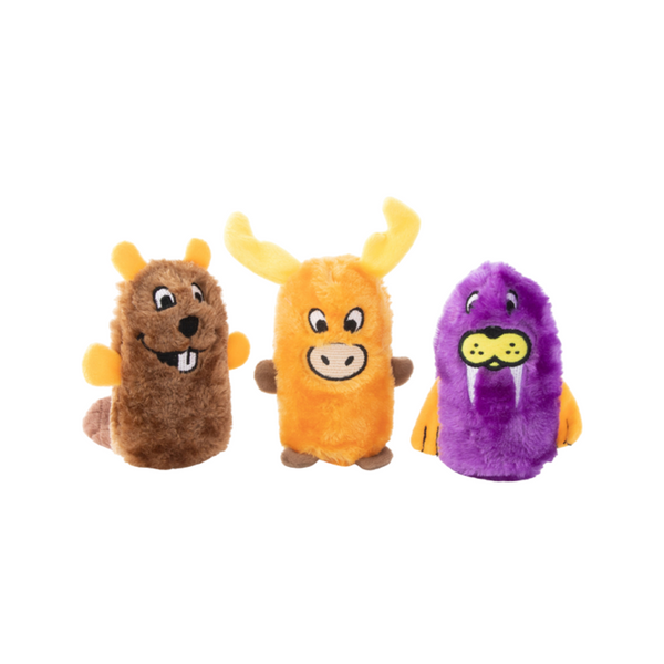 Squeakie Buddies - Beaver, Moose, Walrus 3-Pack