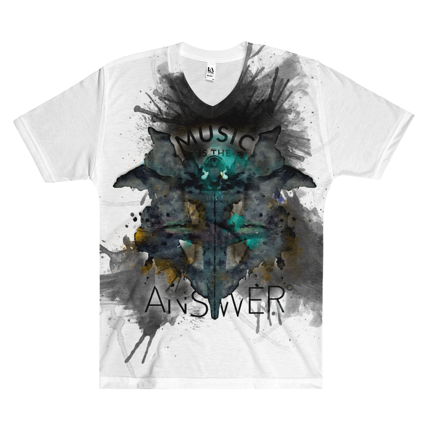Music iNkBLOT • Fellas - All Over Front Print V-Neck T-Shirt - Chosen Tees