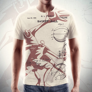 PATENT B-Ball • Fellas - Front & Back All Over Print T-Shirt - Chosen Tees