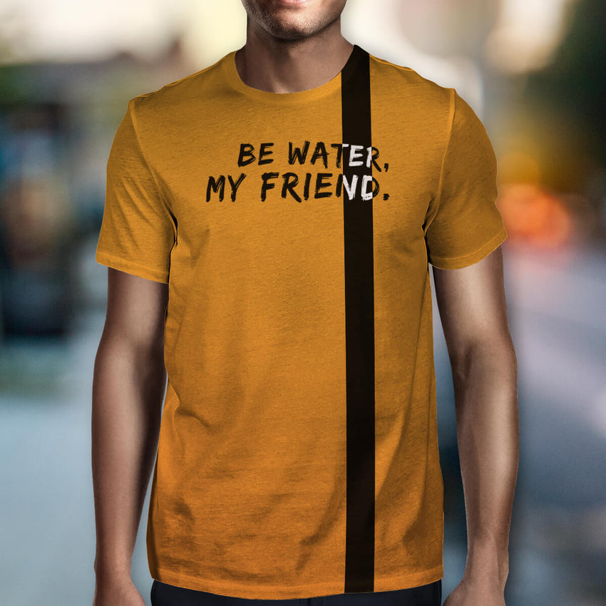 Be Water All-Over Front & Back Print T-Shirt - Chosen Tees