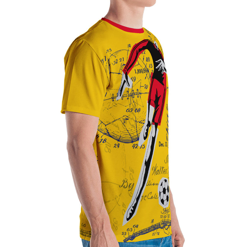 GoOOOAL! COLOMBIA • Soccer Patent Series Men's T-Shirt - Chosen Tees