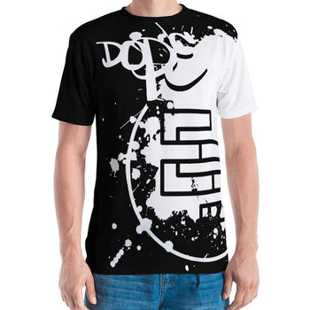 DopE/Entity Fellas All-Over Front & Back BLACK Print Tee - Chosen Tees