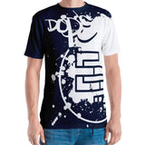 DopE/Entity Fellas All-Over Front & Back BLUE Print Tee - Chosen Tees