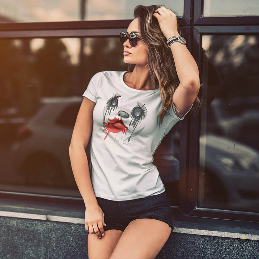 Crazy Sexy COoL Rojo Lipstick Short Sleeve T-Shirt - Chosen Tees