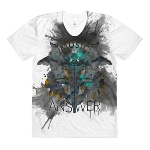 Music iNkBLOT • Ladies - All Over Front Print Crew Neck T-Shirt - Chosen Tees