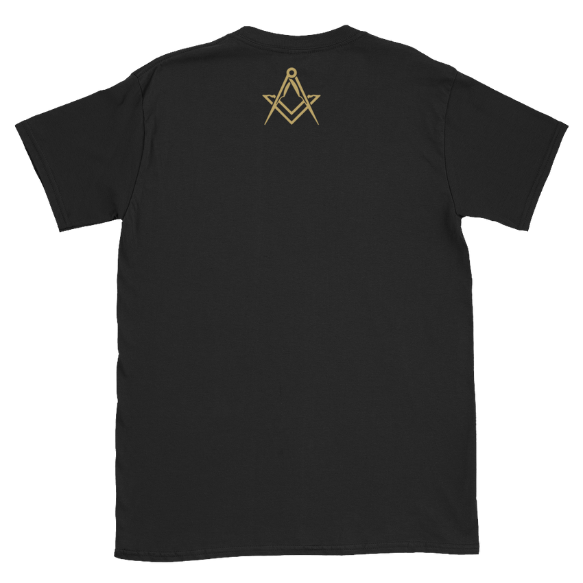 "Brotherhood ""Freemason"" Front & Back Print Short Sleeve T-Shirt - Chosen Tees"