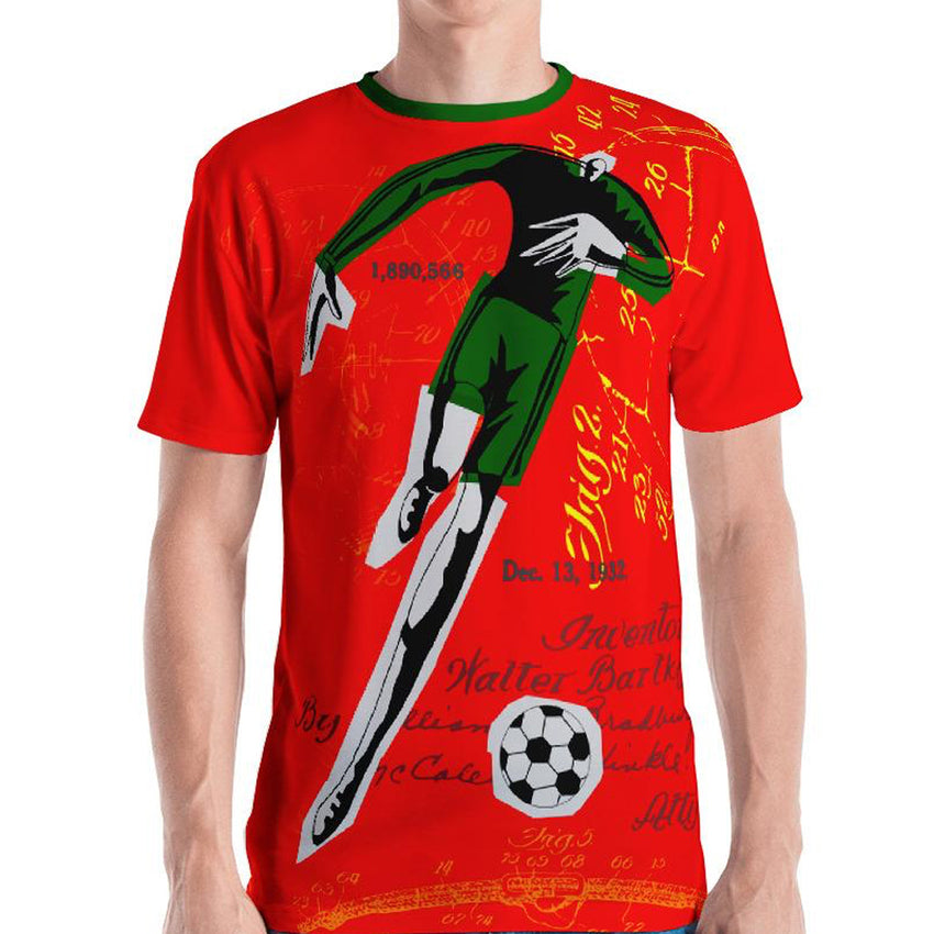 GoOOOAL! PORTUGAL • Soccer Patent Series Men's T-Shirt - Chosen Tees
