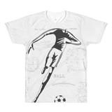 PATENT Soccer Ball • Fellas - Front & Back All Over Print White T-Shirt - Chosen Tees