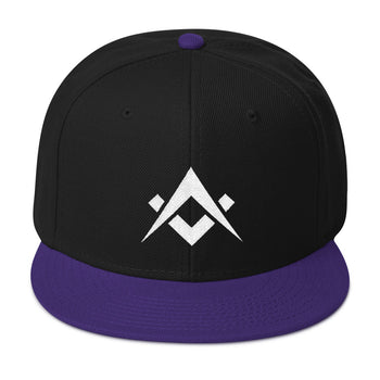 Mason Grail • Square & Compasses Embroidery SnapBack - Chosen Tees