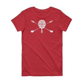 Skull & Spoons • Ladies BarLIFE Short Sleeve T-Shirt - Chosen Tees