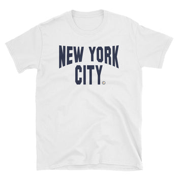 IMAGINE NYC White Short Sleeve T-Shirt - Chosen Tees