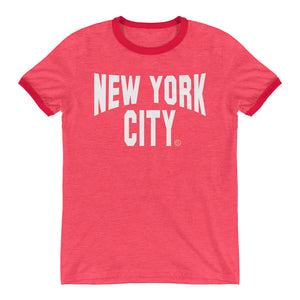 ICONIC NYC Red Ringer T-Shirt - Chosen Tees
