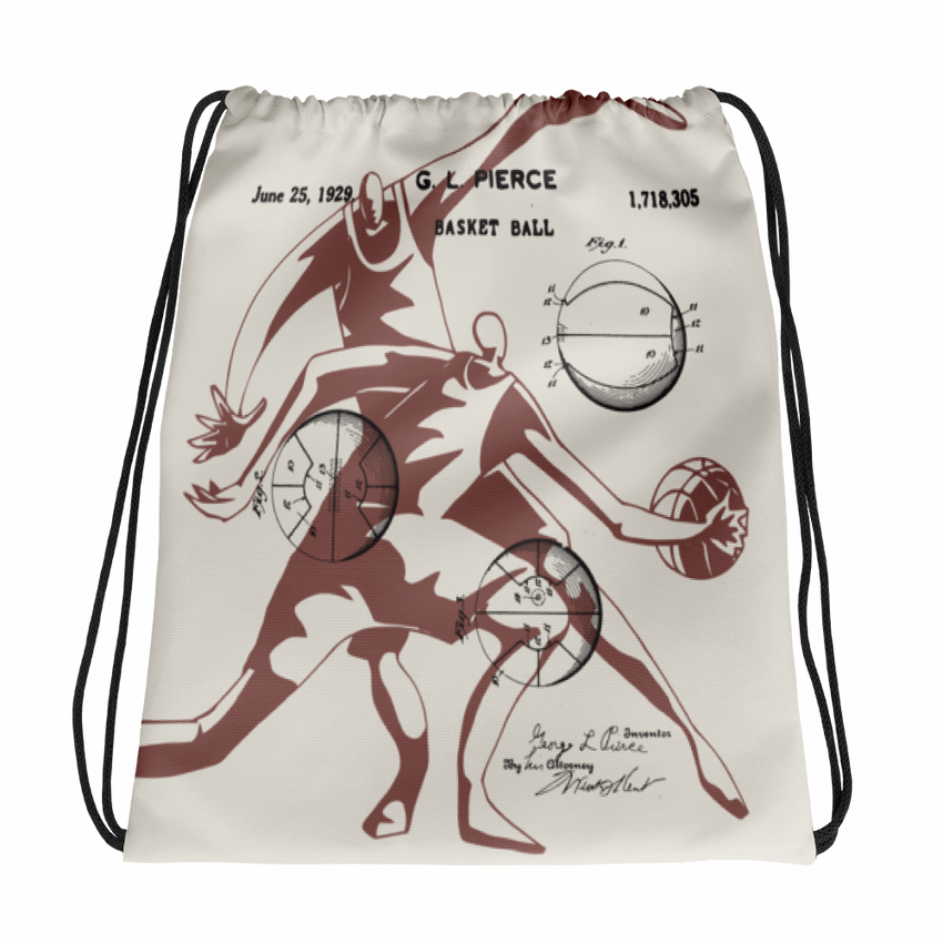 Patent B-Ball • Front & Back All-Over Print Drawstring Bag - Chosen Tees