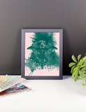 Music iNkBLOT • Verde Portrait Gallery Piece - Chosen Tees