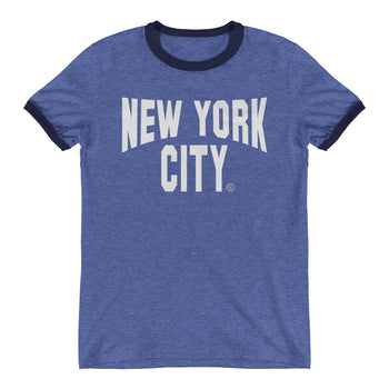 ICONIC NYC Blue Ringer T-Shirt - Chosen Tees