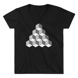 QBert Squares Casual V-Neck Shirt - Chosen Tees