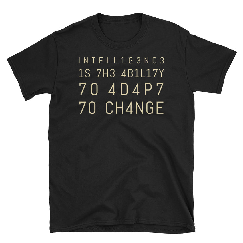 INTELLIGENCE Short Sleeve T-Shirt - Chosen Tees